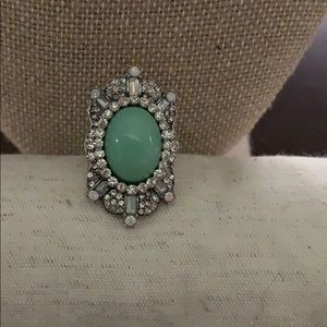 Turquoise colored large cocktail ring size 8